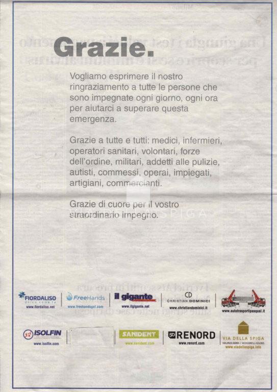 Il ringraziamento da parte di Maurizia Serra e del Team di Via della Spiga Wonderful Houses.