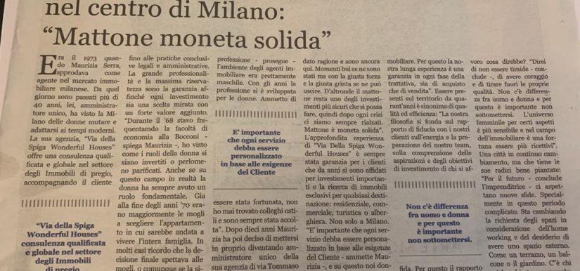 """Maurizia Serra: Una donna tra le pioniere del Real Estate nel centro di Milano """"mattone moneta solida"""""""
